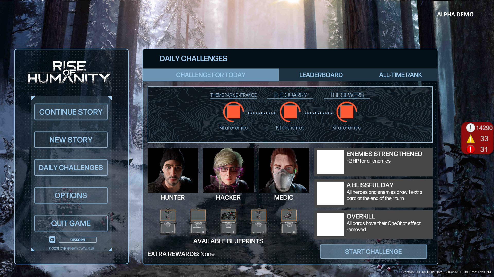 Alpha test - Daily Challenge mode